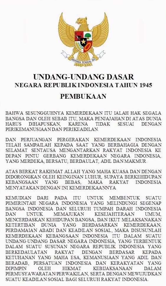 Pembukaan Undang-Undang Dasar 1945